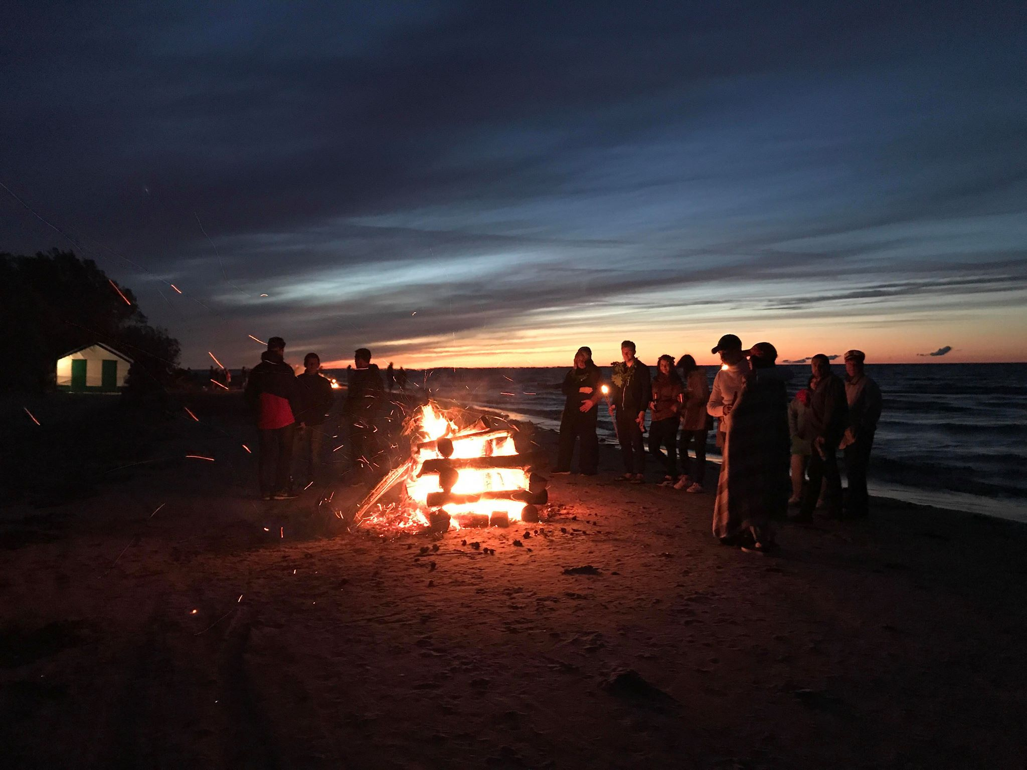 summer solstice bonfire